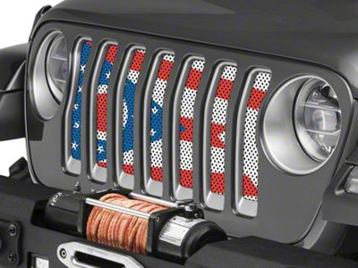 Under the Sun Grille Insert - Ohio State Flag (2018 Jeep Wrangler JL)