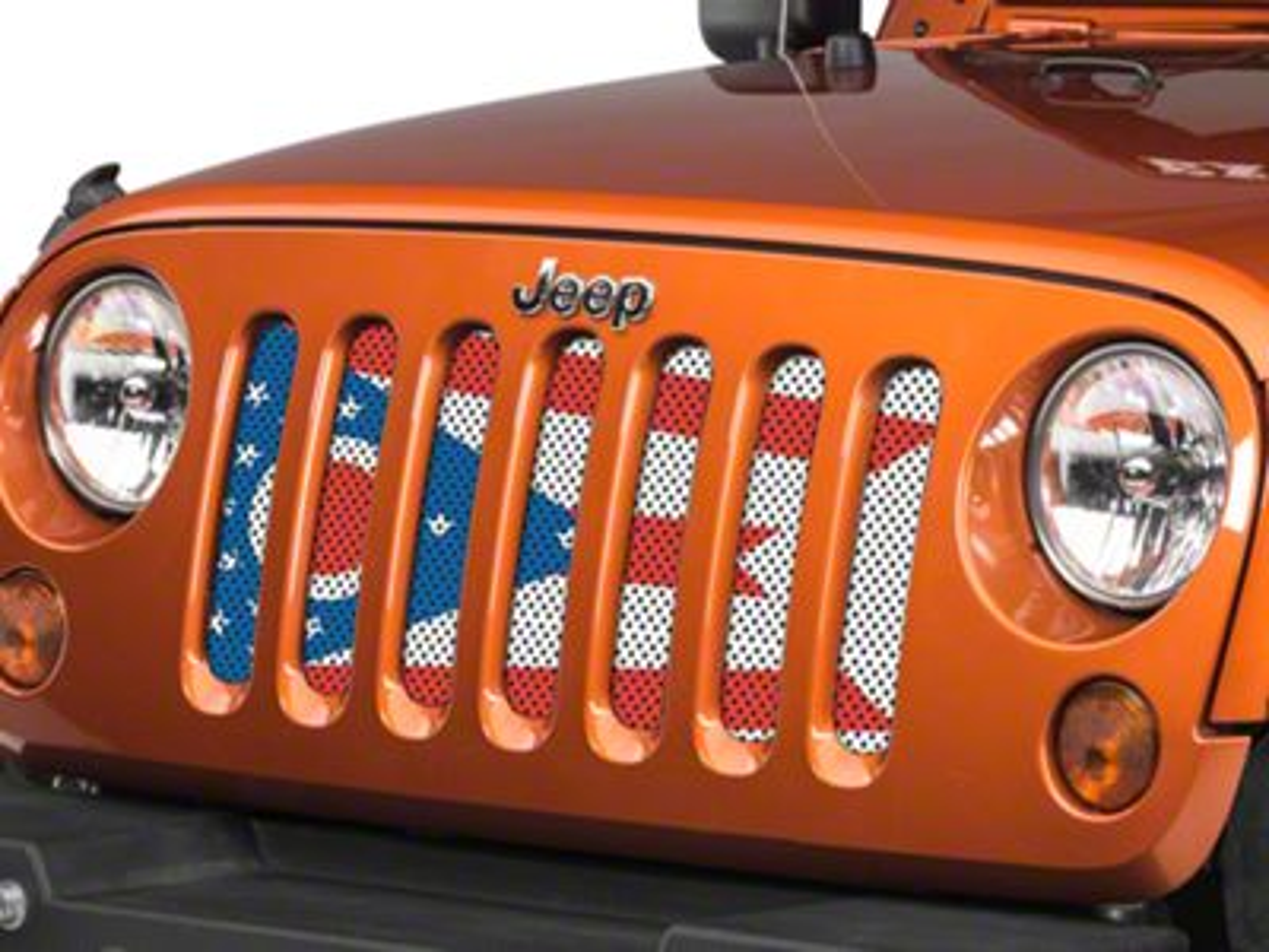 Under the Sun Grille Insert - Ohio State Flag (07-18 Jeep Wrangler JK)