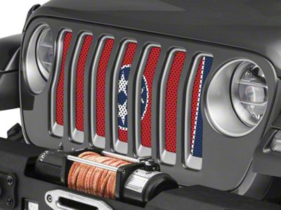 Under the Sun Grille Insert - Tennessee State Flag (2018 Jeep Wrangler JL)