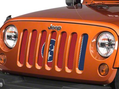 Under the Sun Grille Insert - Tennessee State Flag (07-18 Jeep Wrangler JK)