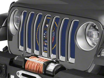 Under the Sun Grille Insert - Utah State Flag (2018 Jeep Wrangler JL)