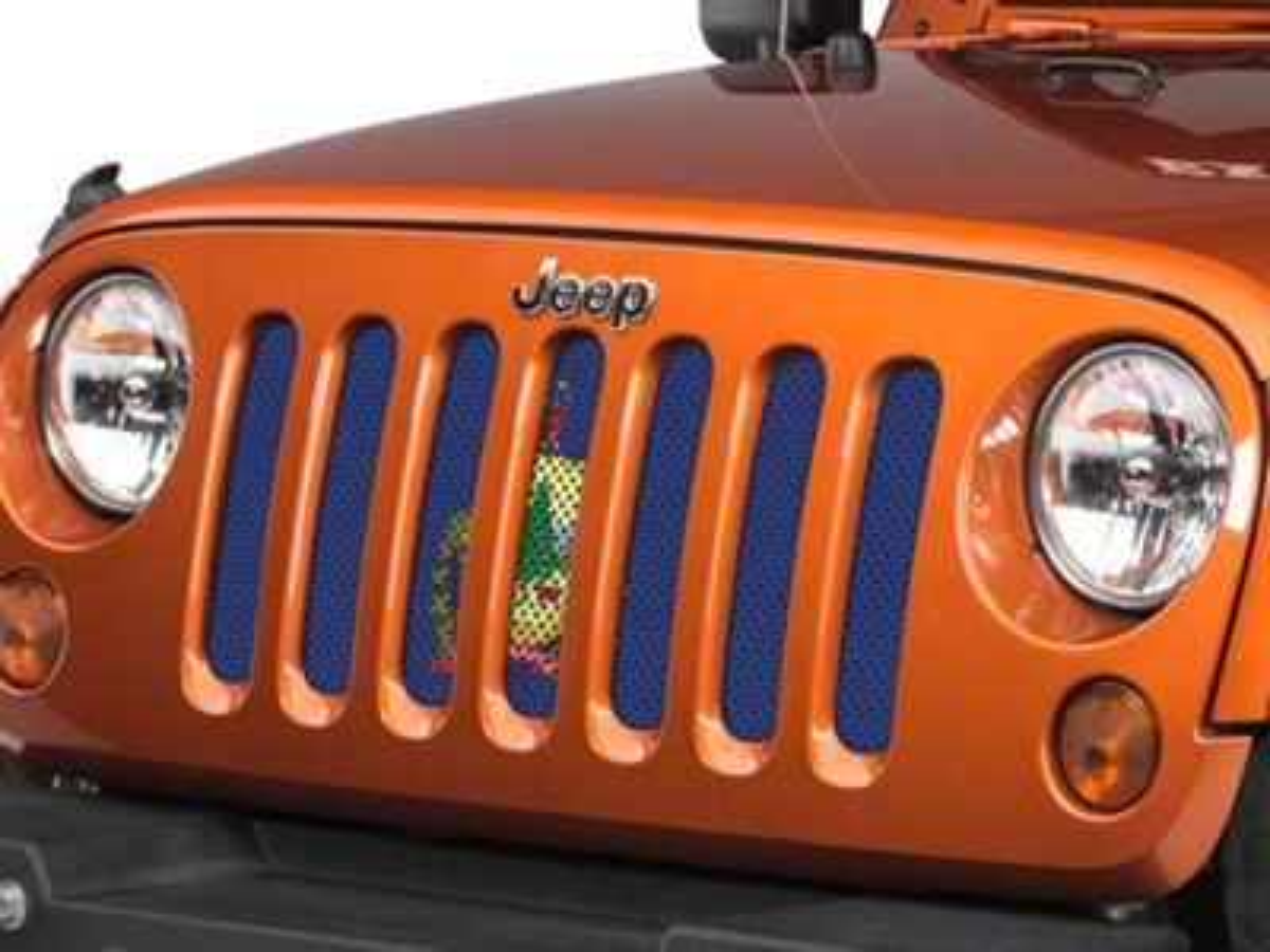 Under the Sun Grille Insert - Vermont State Flag (07-18 Jeep Wrangler JK)