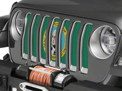 Under the Sun Grille Insert - Washington State Flag (2018 Jeep Wrangler JL)