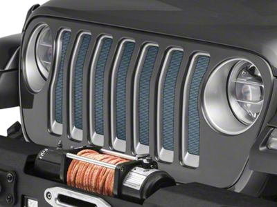Under the Sun Grille Insert - Anvil (2018 Jeep Wrangler JL)
