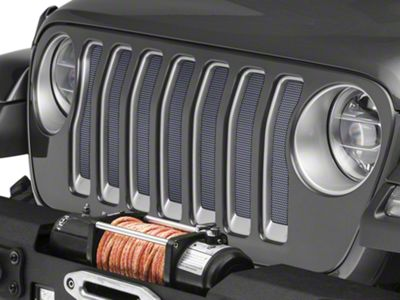 Under the Sun Grille Insert - Billet Silver Metallic (2018 Jeep Wrangler JL)
