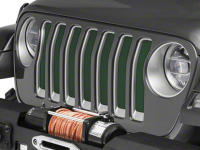 Under the Sun Grille Insert - Black Forest Green Pearl (2018 Jeep Wrangler JL)