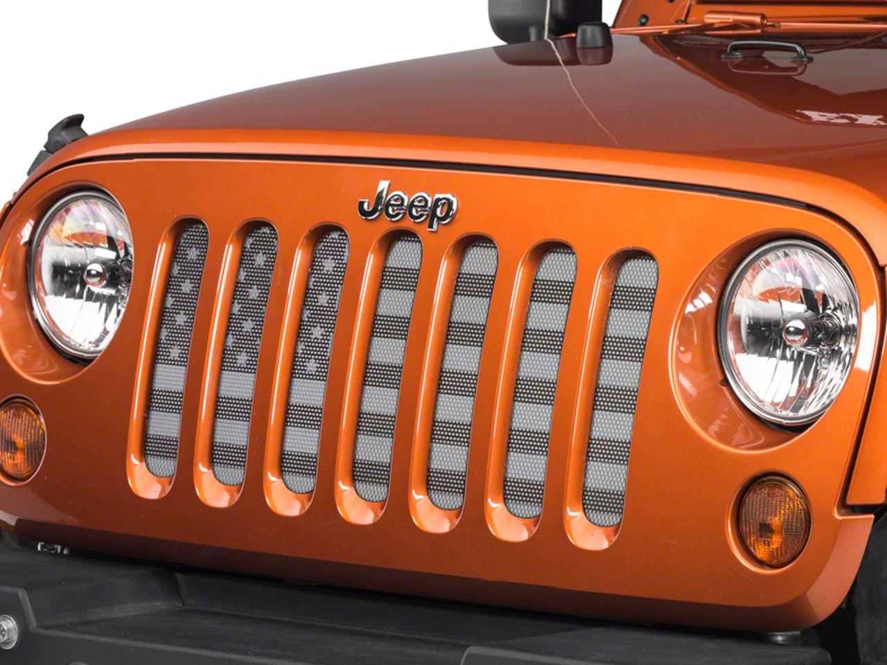 Under the Sun Grille Insert - Black Out (07-18 Jeep Wrangler JK)