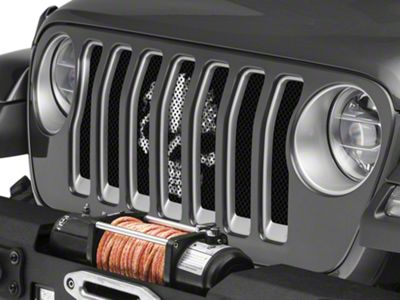 Under the Sun Grille Insert - BlackOut Skull (18-19 Jeep Wrangler JL)