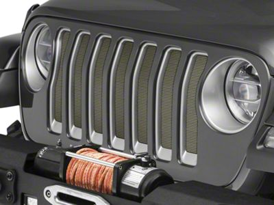 Under the Sun Grille Insert - Commando Green (2018 Jeep Wrangler JL)