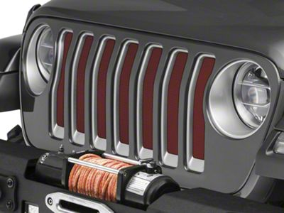 Under the Sun Grille Insert - Deep Cherry Red (2018 Jeep Wrangler JL)