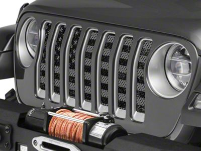 Under the Sun Grille Insert - Distressed Black Out (2018 Jeep Wrangler JL)