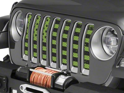 Under the Sun Grille Insert - Distressed Lime Green (2018 Jeep Wrangler JL)