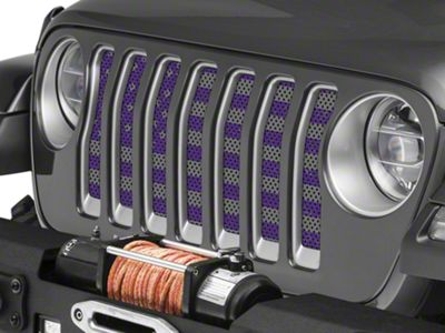 Under the Sun Grille Insert - Distressed Purple and Silver (2018 Jeep Wrangler JL)