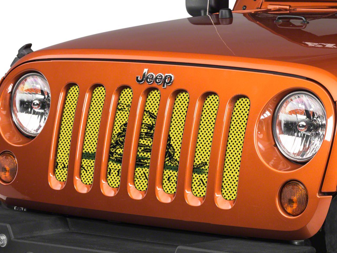 Under the Sun Grille Insert - Don't Tread On Me (07-18 Jeep Wrangler JK)