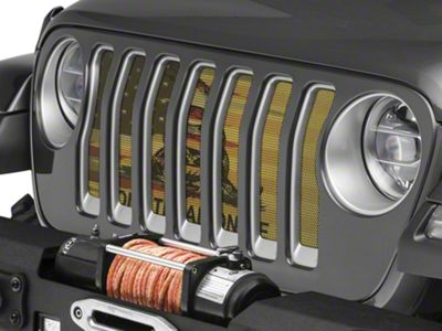 Under the Sun Grille Insert - Don't Tread On Me Old Glory (2018 Jeep Wrangler JL)