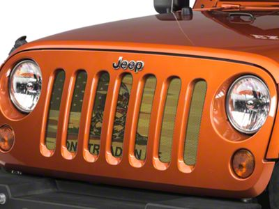 Under the Sun Grille Insert - Don't Tread On Me Old Glory (07-18 Jeep Wrangler JK)