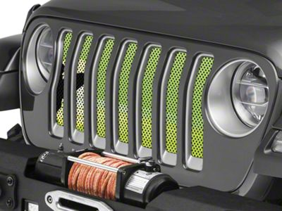 Under the Sun Grille Insert - Endless Summer Hyper Green Male Surfer (2018 Jeep Wrangler JL)
