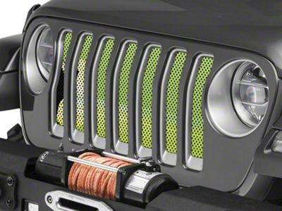 Under the Sun Grille Insert - Endless Summer Hyper Green Surfer Girl (2018 Jeep Wrangler JL)