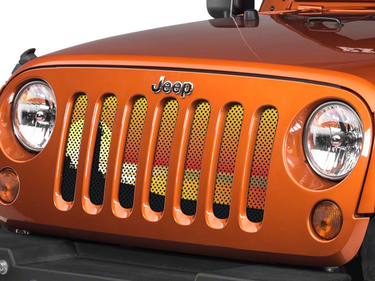 Under the Sun Grille Insert - Endless Summer Orange Light House (07-18 Jeep Wrangler JK)