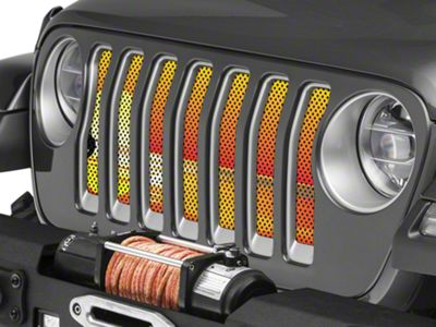 Under the Sun Grille Insert - Endless Summer Orange Mermaid (2018 Jeep Wrangler JL)