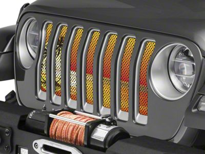Under the Sun Grille Insert - Endless Summer Orange Palm Tree (2018 Jeep Wrangler JL)