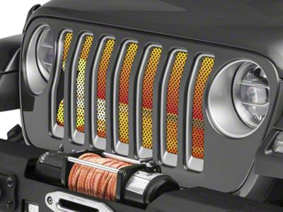 Under the Sun Grille Insert - Endless Summer Orange Surfer Girl (2018 Jeep Wrangler JL)