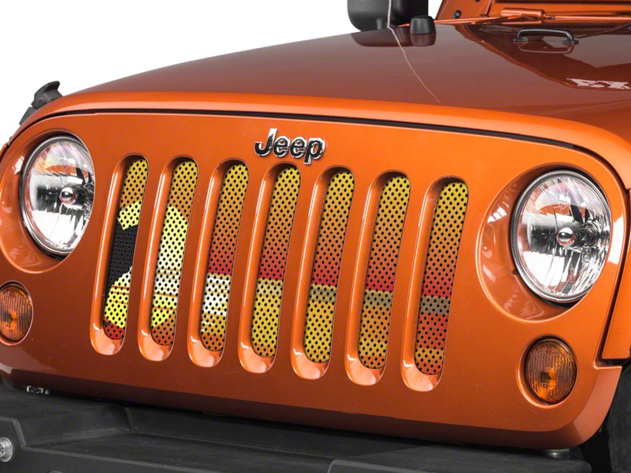 Under the Sun Grille Insert - Endless Summer Orange Surfer Girl (07-18 Jeep Wrangler JK)