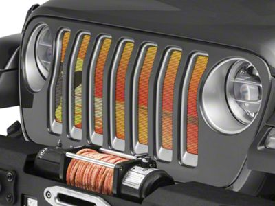Under the Sun Grille Insert - Endless Summer Orange Surfer Male (2018 Jeep Wrangler JL)