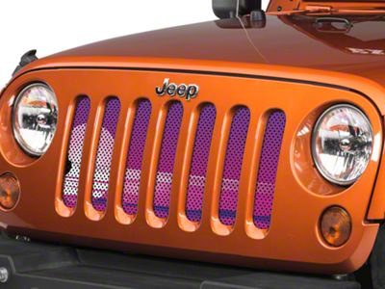 Under the Sun Grille Insert - Endless Summer Purple Mermaid (07-18 Jeep Wrangler JK)