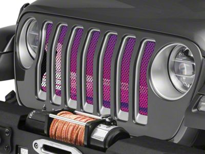 Under the Sun Grille Insert - Endless Summer Purple Surfer Girl (2018 Jeep Wrangler JL)