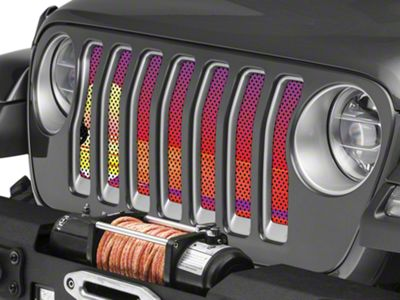 Under the Sun Grille Insert - Endless Summer Red Mermaid (2018 Jeep Wrangler JL)