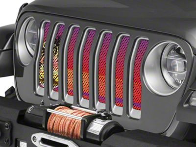 Under the Sun Grille Insert - Endless Summer Red Palm Tree (2018 Jeep Wrangler JL)