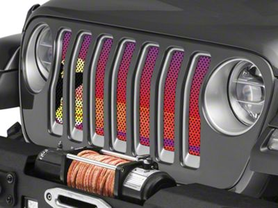 Under the Sun Grille Insert - Endless Summer Red Surfer Male (2018 Jeep Wrangler JL)