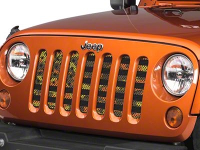 Under the Sun Grille Insert - Fall Colors Camo Stars and Stripes (07-18 Jeep Wrangler JK)