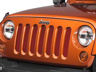 Under the Sun Grille Insert - Flame Red (07-18 Jeep Wrangler JK)