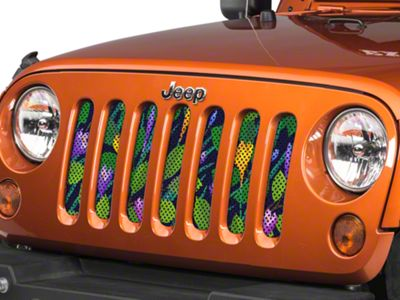 Under the Sun Grille Insert - Flowers Blooming (07-18 Jeep Wrangler JK)