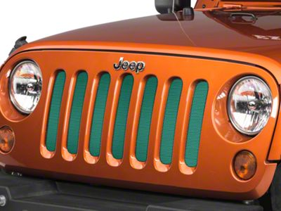Under the Sun Grille Insert - Forest Green Pearl (07-18 Jeep Wrangler JK)