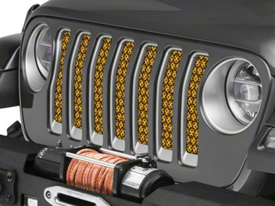 Under the Sun Grille Insert - Honeycomb Black (2018 Jeep Wrangler JL)