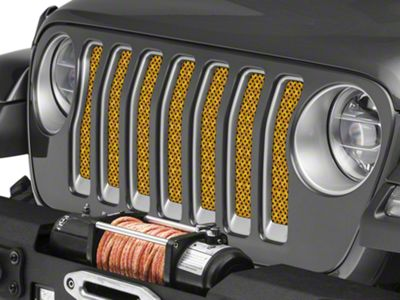 Under the Sun Grille Insert - Honeycomb Gold (2018 Jeep Wrangler JL)