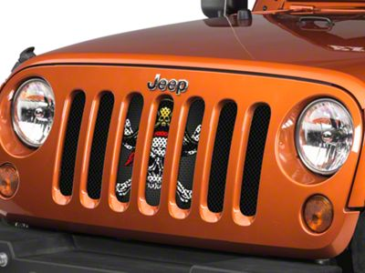 Under the Sun Grille Insert - Jolly Rogers (07-18 Jeep Wrangler JK)