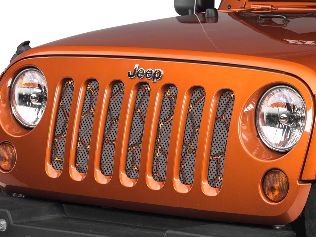 Under the Sun Grille Insert - Lava Flow (07-18 Jeep Wrangler JK)