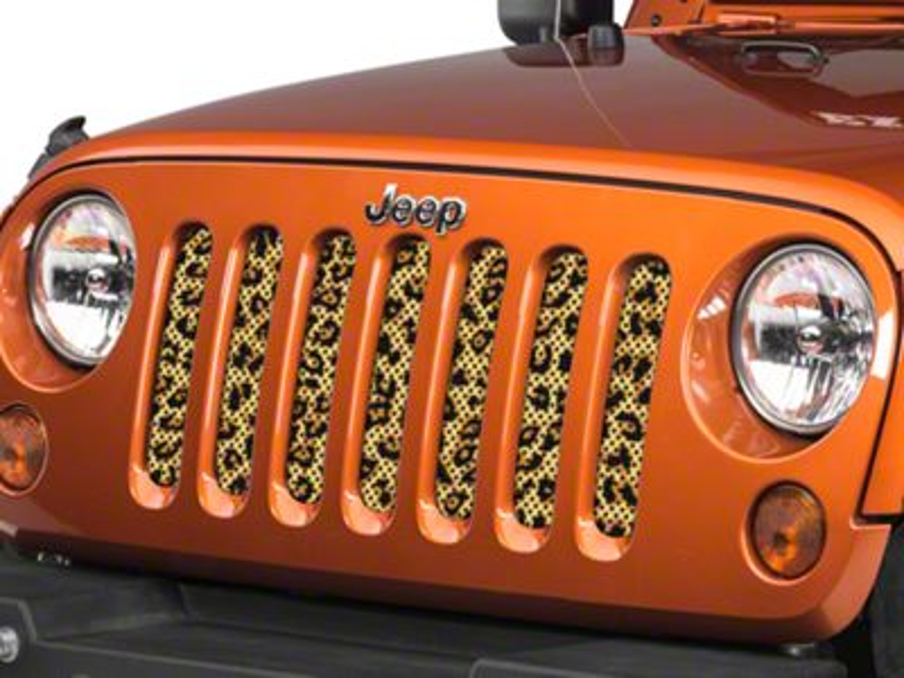 Under the Sun Grille Insert - Leopard Print (07-18 Jeep Wrangler JK)