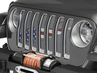 Under the Sun Grille Insert - Long Island OldGlory (2018 Jeep Wrangler JL)