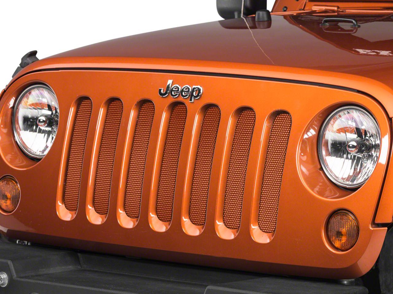 Under the Sun Grille Insert - Mango Tango (07-18 Jeep Wrangler JK)