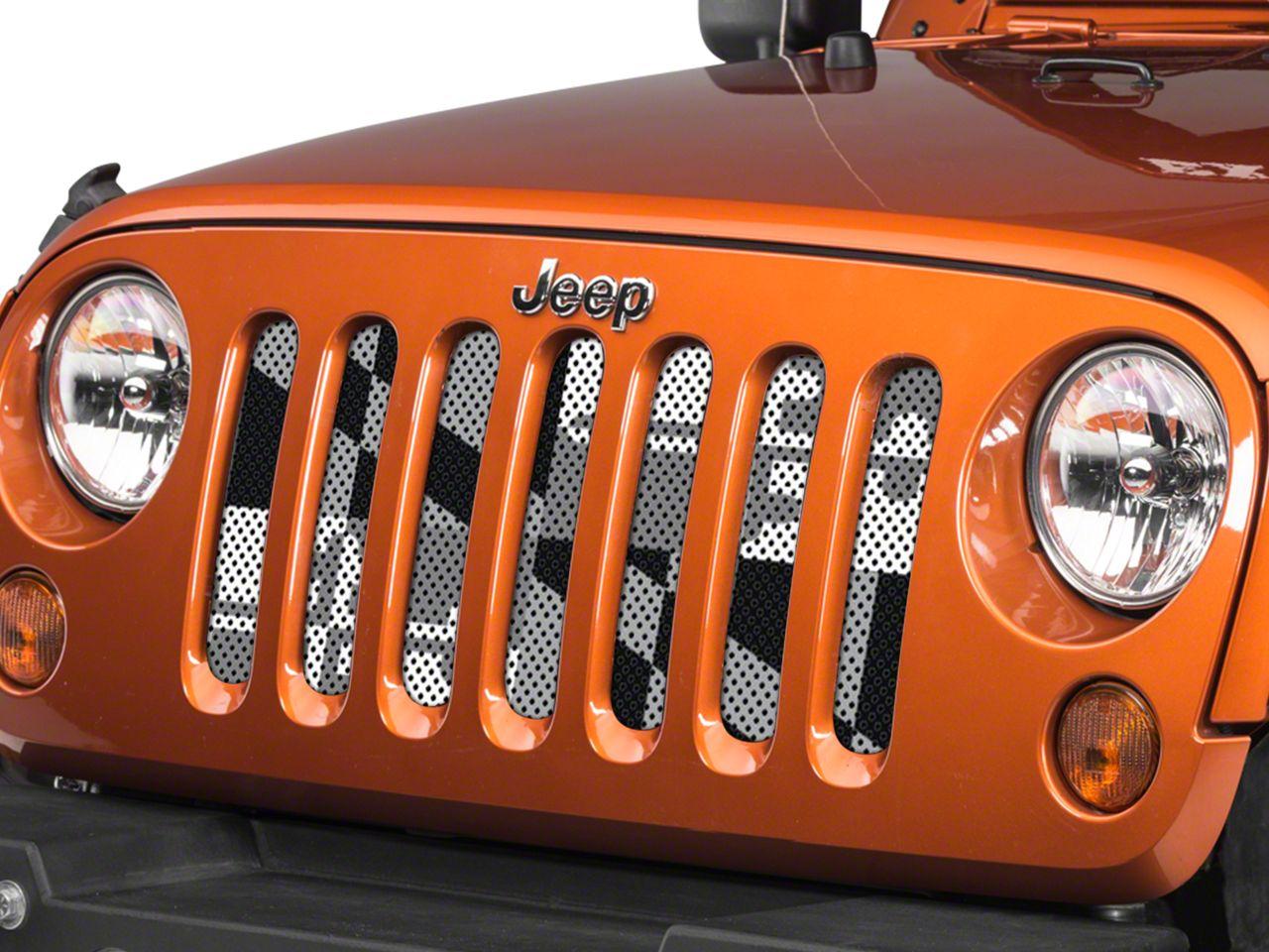 Under the Sun Grille Insert - Maryland BlackOut (07-18 Jeep Wrangler JK)