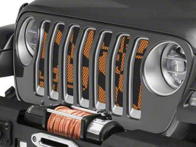 Under the Sun Grille Insert - Maryland Orange (2018 Jeep Wrangler JL)