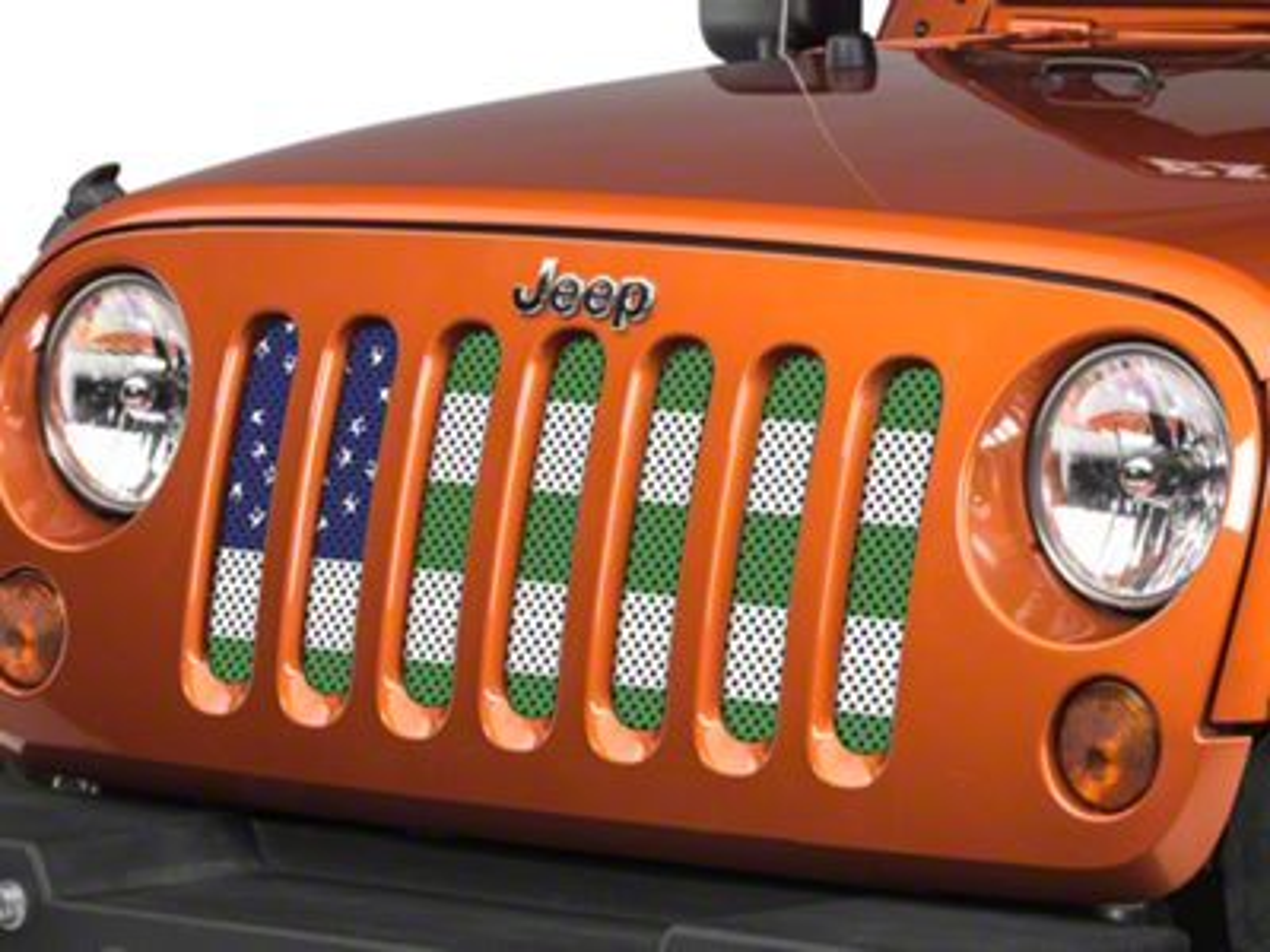 Under the Sun Grille Insert - NYPD Flag (07-18 Jeep Wrangler JK)