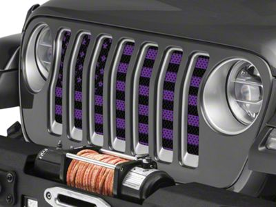 Under the Sun Grille Insert - OldGlory Purple (2018 Jeep Wrangler JL)