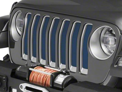Under the Sun Grille Insert - Patriot Blue Pearl Coat (2018 Jeep Wrangler JL)