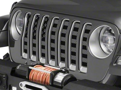 Under the Sun Grille Insert - Paws Black Out (2018 Jeep Wrangler JL)